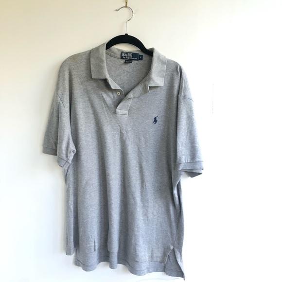 Ralph Lauren Short Sleeve Gray Collared Polo L